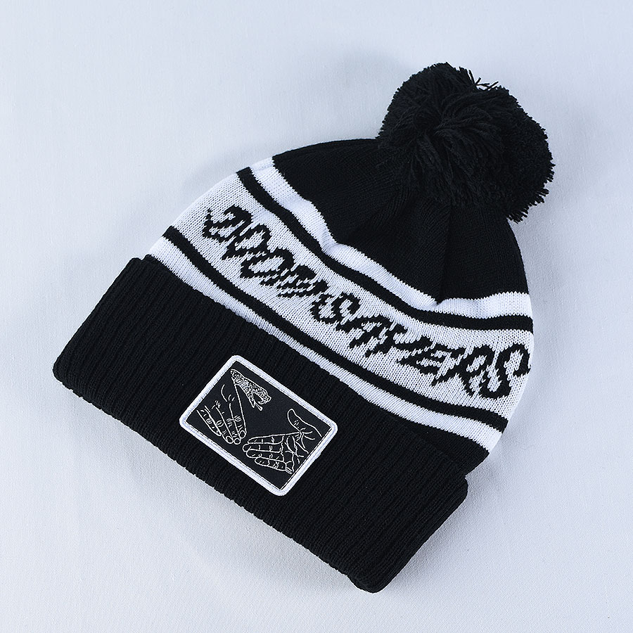Black, White Hats and Beanies DSC Pom Beanie in Stock Now