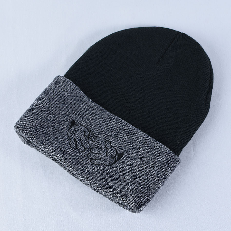 Black, Grey Hats and Beanies Cartoon Beanie in Stock Now