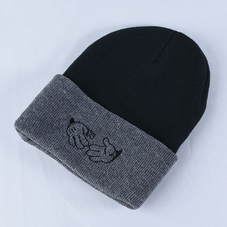 Doom Sayers Cartoon Beanie Black, Grey