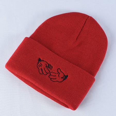 Doom Sayers Cartoon Beanie Red