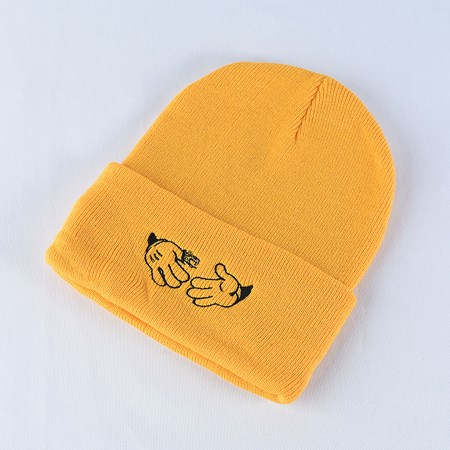 Doom Sayers Cartoon Beanie Yellow