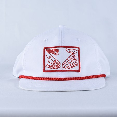 Doom Sayers Snake Shake Unstructured Hat White, Red