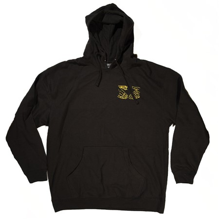 Doom Sayers Corp Guy Hoodie Black, Yellow