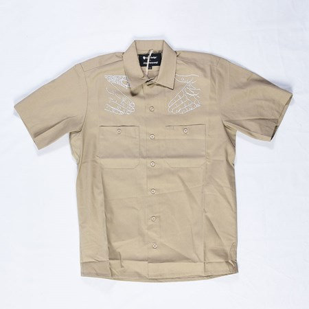 Doom Sayers DSC X Knowledge Western Button Up Shirt Khaki in stock now.