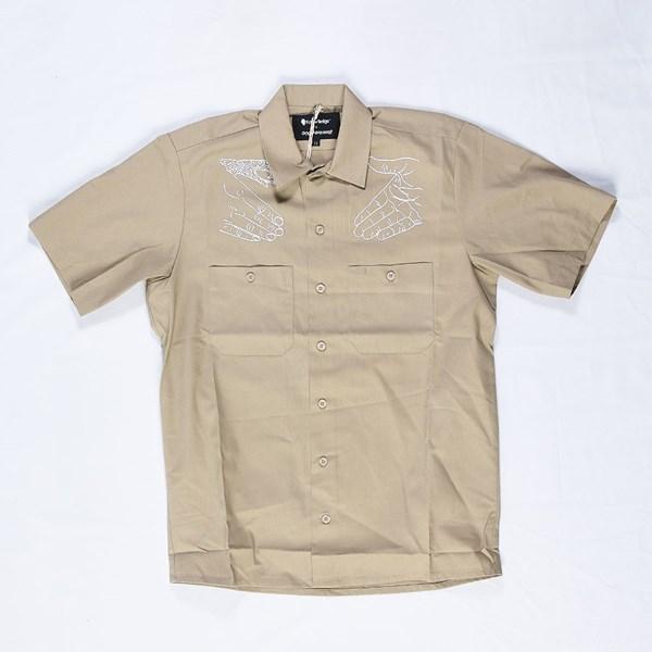 Doom Sayers DSC X Knowledge Western Button Up Shirt Khaki