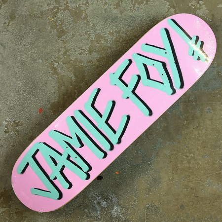 Deathwish Jamie Foy Gang Name Deck Pink, Teal in stock now.
