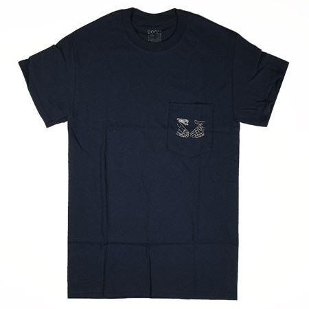 Doom Sayers Snake Shake 2 Pocket T Shirt Navy