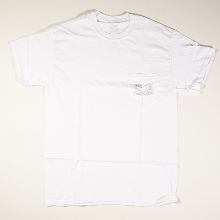 Doom Sayers Snake Shake 2 Pocket T Shirt White in stock now.