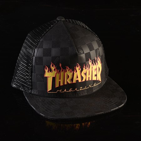 Vans Thrasher X Vans Trucker Hat Black (Thrasher) in stock now.