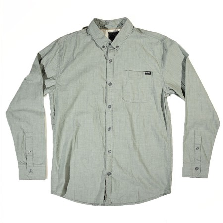 The Boardr Coastal Long Sleeve Button-Up Shirt Sage