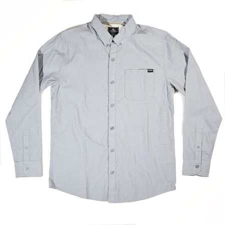 The Boardr Coastal Long Sleeve Button-Up Shirt Light Blue