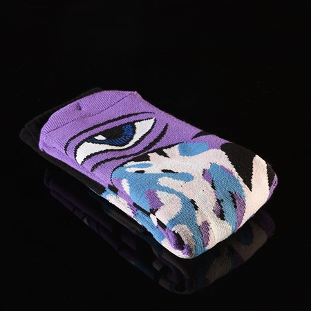 Toy Machine Barf Sect Socks Multi Purple