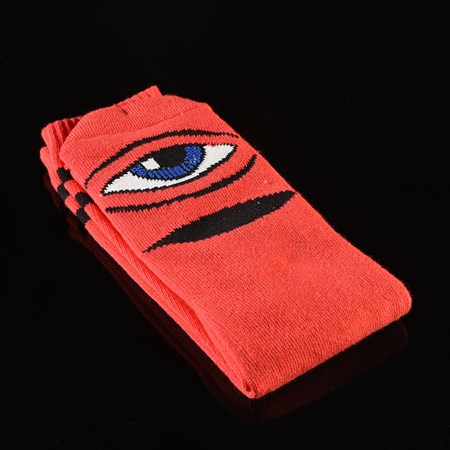 Toy Machine Sect Eye Knee High Socks Red