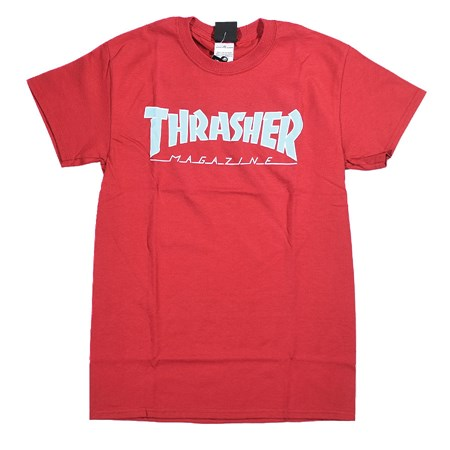 Thrasher Outlined T Shirt Cardinal
