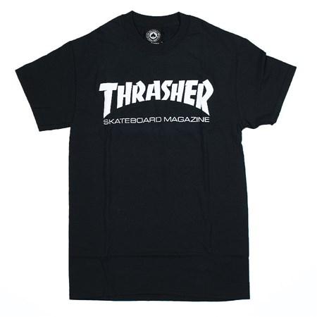 Thrasher Flame Logo T Shirt Black