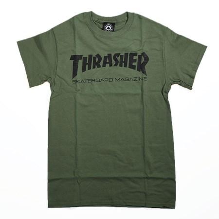 Thrasher Skate Mag T Shirt Army