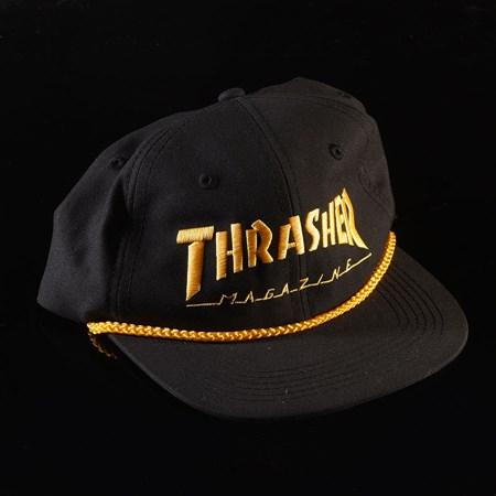 Thrasher Rope Snapback Hat Black, Yellow