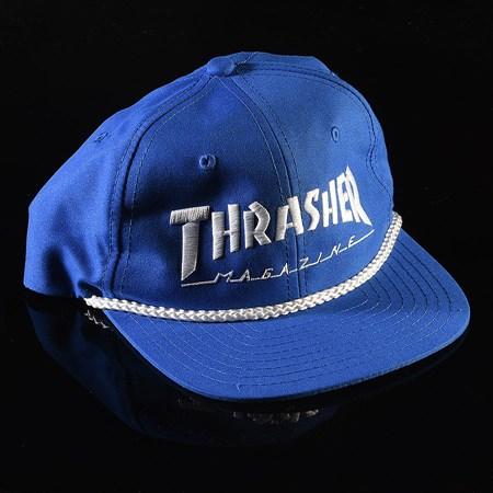 Thrasher Rope Snapback Hat Royal Blue