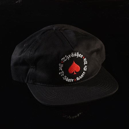 Thrasher Oath Snapback Hat Black