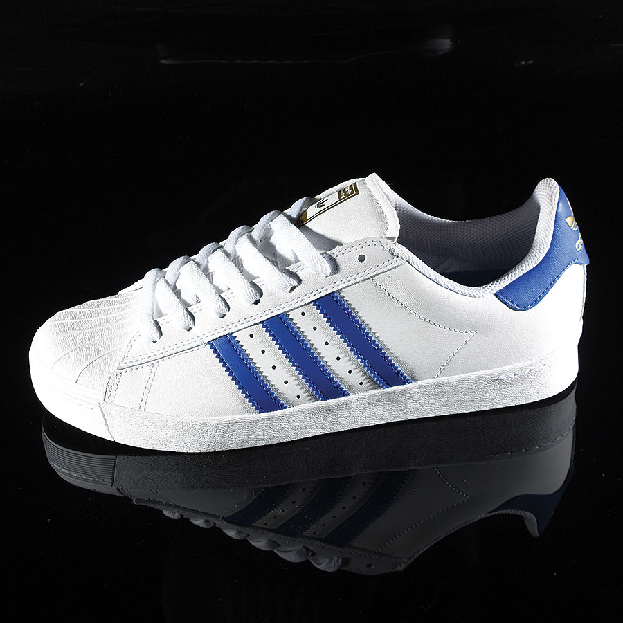 White, Royal, Gold Shoes Superstar Vulc ADV Shoe in Stock Now