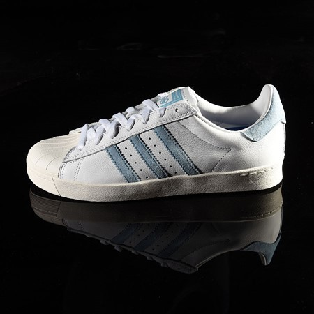 Size 10.5 in adidas Superstar Vulc ADV Shoe, Color: White, Chalk White, Krooked