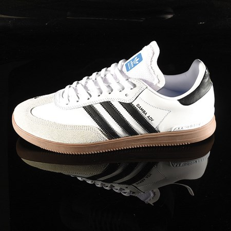 Size 11 in adidas Samba ADV Shoe, Color: White, Black, Gum