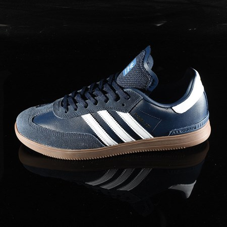 Size 10.5 in adidas Samba ADV Shoe, Color: Navy, White, Gum