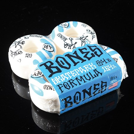 Bones Wheels War Paint SPF 84B P4 Wheels White