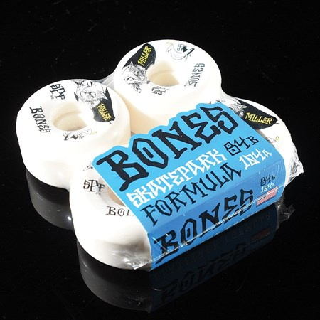 Bones Wheels Chris Miller Guilty Cat SPF 84B P5 Wheels White in stock now.