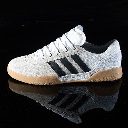 Size 11 in adidas City Cup Shoe, Color: White, Black, Gum