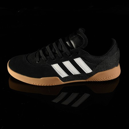 Size 11 in adidas City Cup Shoe, Color: Black, White, Gum