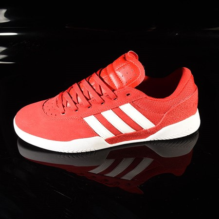 adidas City Cup Shoe Scarlet, White, White