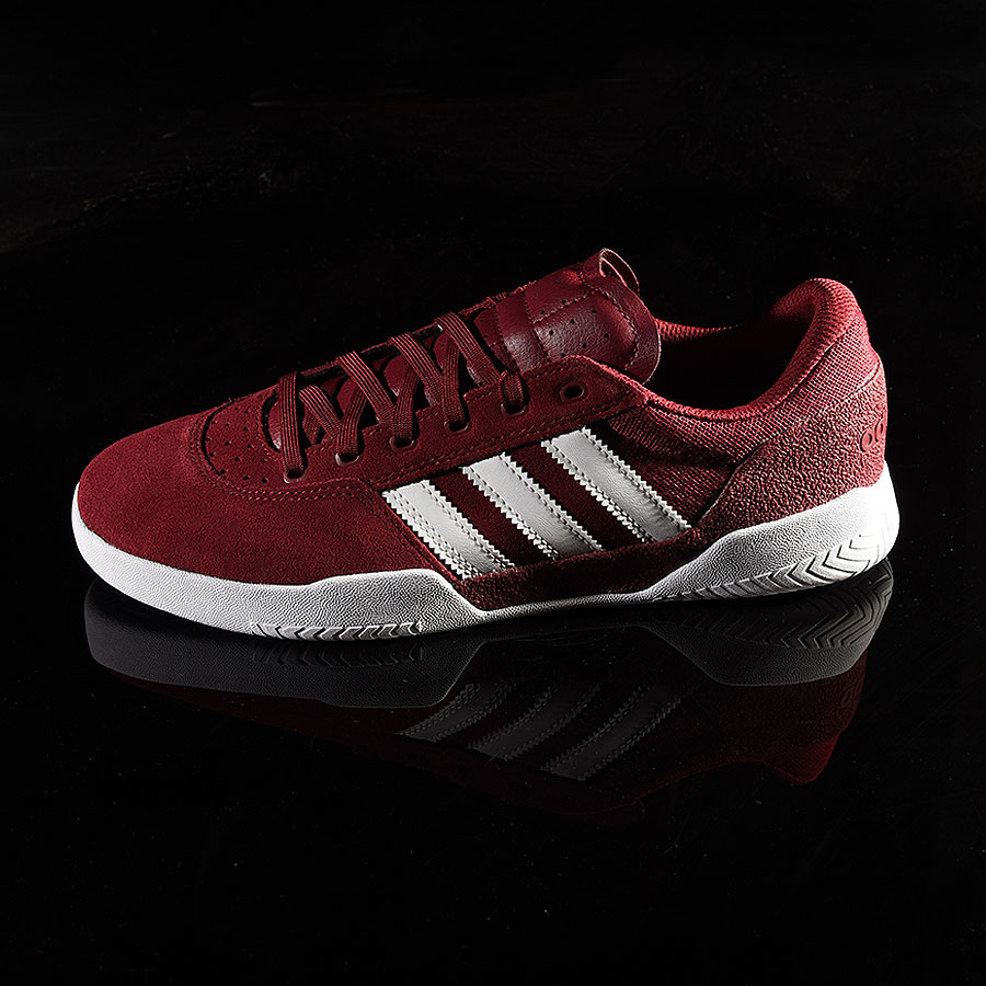 Burgundy, White Shoes City Cup Shoe in Stock Now
