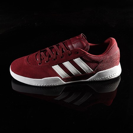 Size 10.5 in adidas City Cup Shoe, Color: Burgundy, White