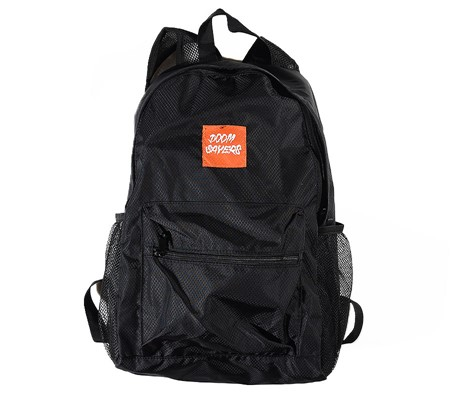 Doom Sayers Packable Travel Bag Black, Orange