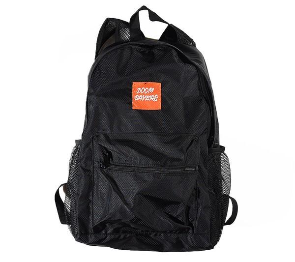 Doom Sayers Packable Travel Bag Black, Orange