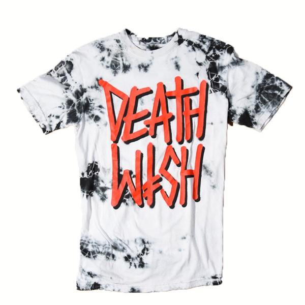 Deathwish Deathstack Tie-Dye T Shirt Black, White