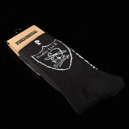 Psockadelic Hardluck Socks Black, White