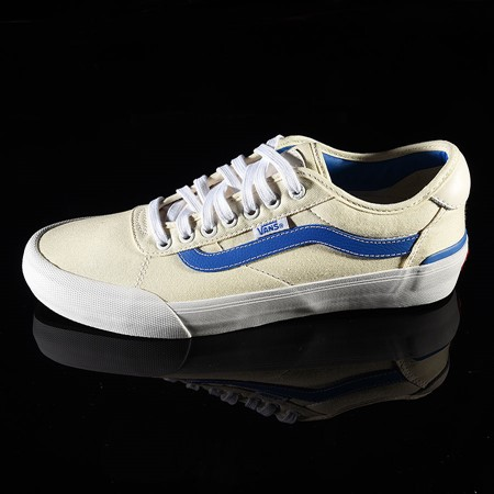 Vans Chima Pro 2 Shoe (Center Court) Classic White, Victoria Blue