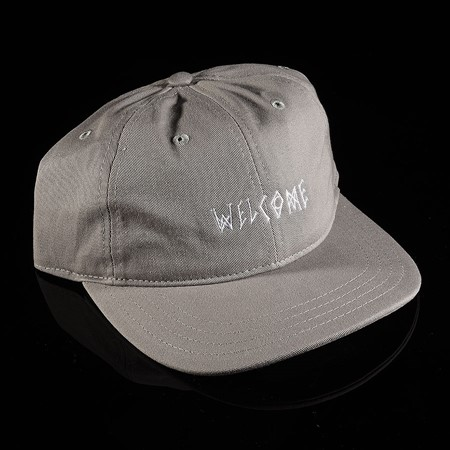 Welcome Scrawl Unstructured 6 Panel Hat Grey