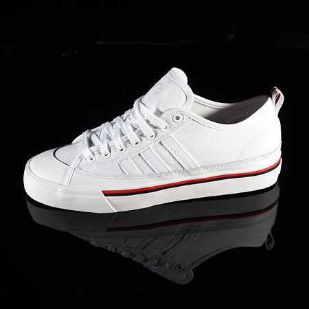 Size 10.5 in adidas Matchcourt Low RX3 Shoe, Color: Na-Kel Smith, White, Black, Scarlet