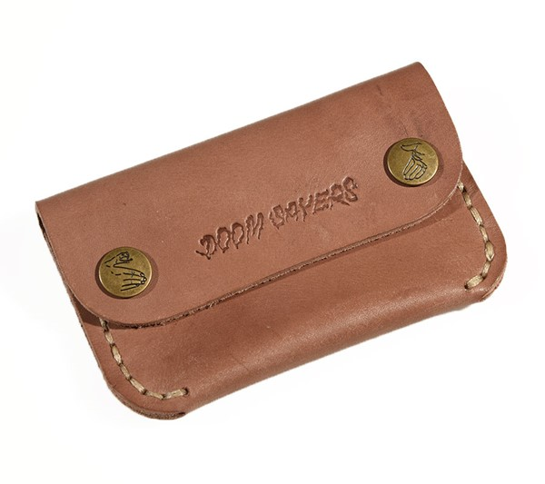 Doom Sayers Corp Guy Slim Leather Wallet Brown Leather
