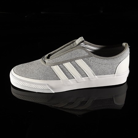 Size 9.5 in adidas Adi-Ease Kung Fu Shoes, Color: Charcoal, Soft Grey, White
