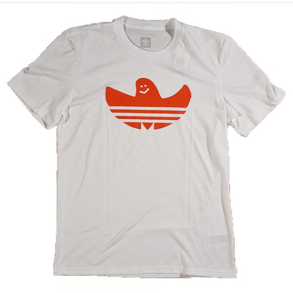 adidas Solid Shmoo T Shirt White, Orange