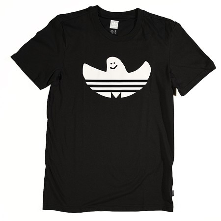 adidas Solid Shmoo T Shirt Black, White