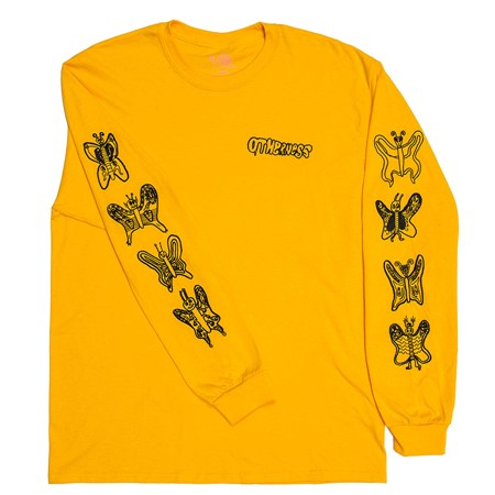 The Otherness Butterfly Longsleeve T Shirt Yellow