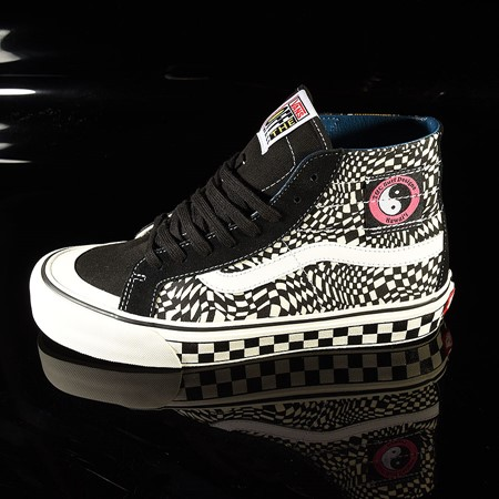 Size 11 in Vans Sk8 Hi 138 Decon Shoe, Color: TC Surf, Black, Classic White