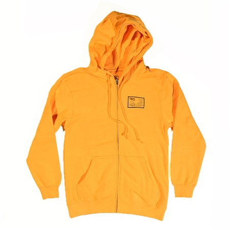Doom Sayers Snake Shake Zip Up Hoodie Mustard