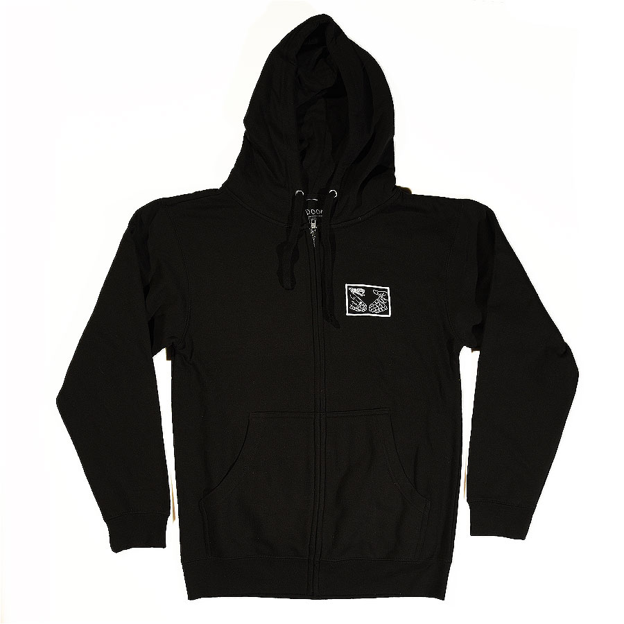 Black Hoodies and Sweaters Snake Shake Zip Up Hoodie in Stock Now