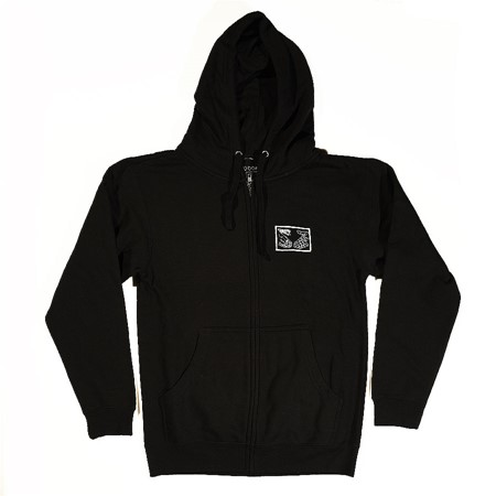 Doom Sayers Snake Shake Zip Up Hoodie Black